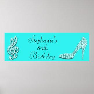 Notas de la música del trullo y cumpleaños del impresiones