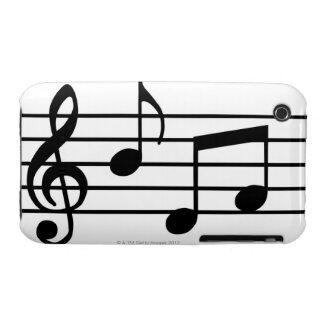 Notas de la música iPhone 3 protector