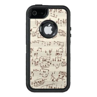 Notas de la música funda otterbox para iPhone 5/5s/SE