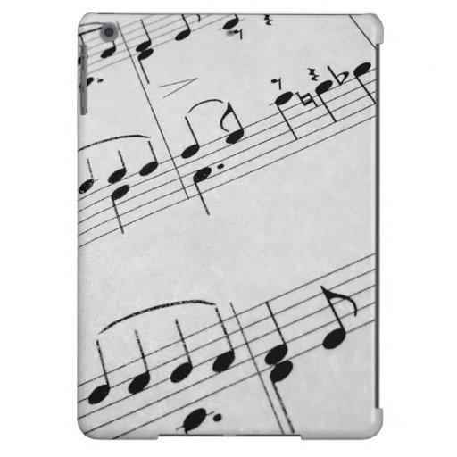 Notas de la música funda para iPad air
