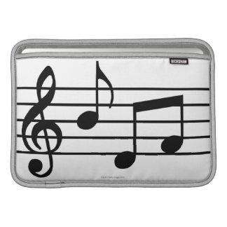 Notas de la música fundas para macbook air