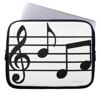 Notas de la música fundas portátiles