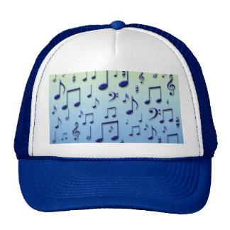 Notas de la música gorras de camionero
