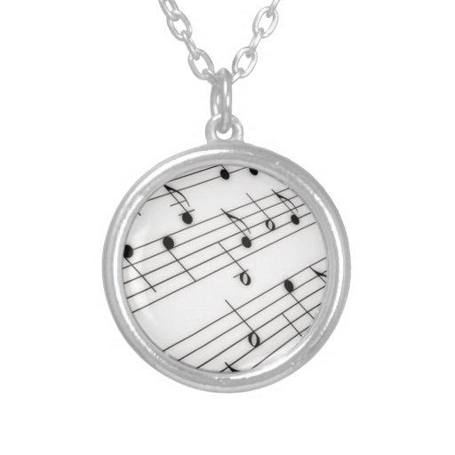 Notas de la música joyerias