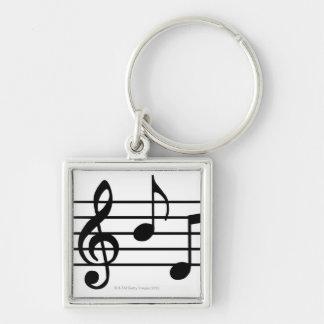 Notas de la música llaveros personalizados