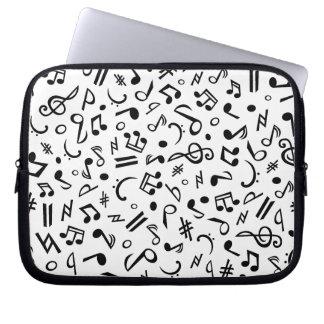notas de la música mangas portátiles