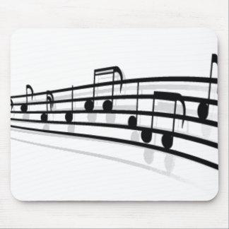 Notas de la música alfombrilla de raton