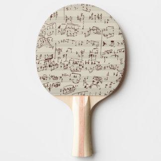 Notas de la música pala de ping pong