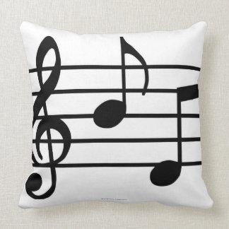 Notas de la música cojines