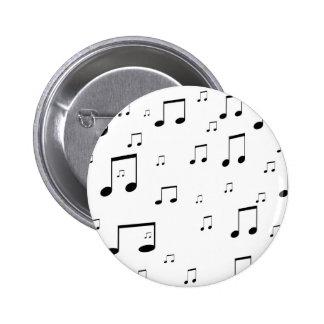 Notas de la música pin redondo 5 cm