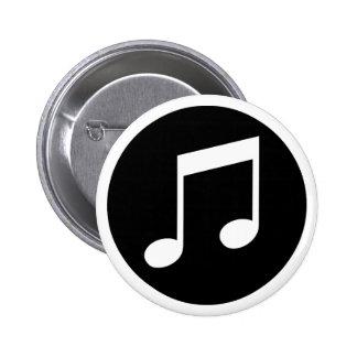 Notas de la música pin redondo de 2 pulgadas