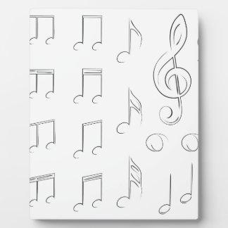 Notas de la música placas para mostrar