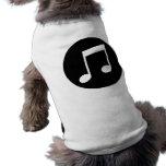 Notas de la música playera sin mangas para perro