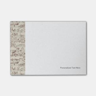 Notas de la música post-it® nota