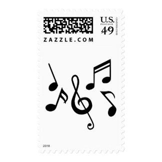 Notas de la música sellos
