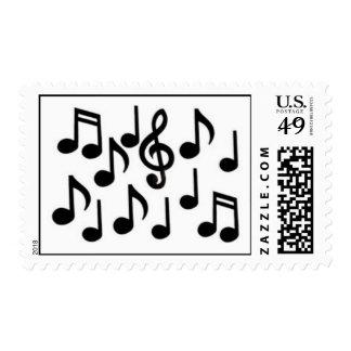 notas de la música envio