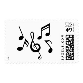 Notas de la música sello