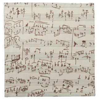 Notas de la música servilletas de papel