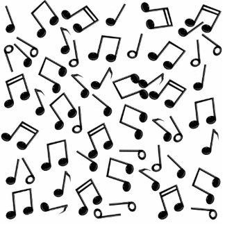 Notas de la música sobre espacio en blanco (añada fotoescultura vertical