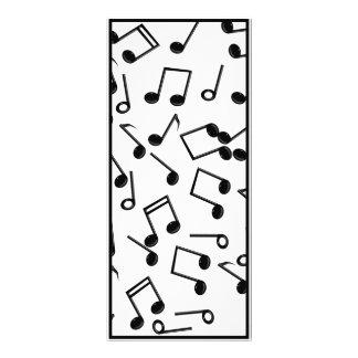 Notas de la música sobre espacio en blanco (añada  lonas personalizadas