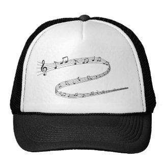 Notas de la música sobre líneas Curvy Gorros