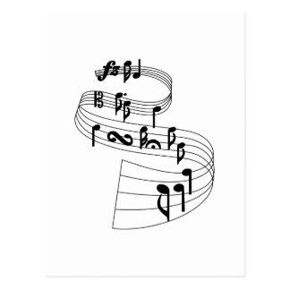 Notas de la música tarjeta postal