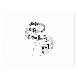 Notas de la música tarjetas postales