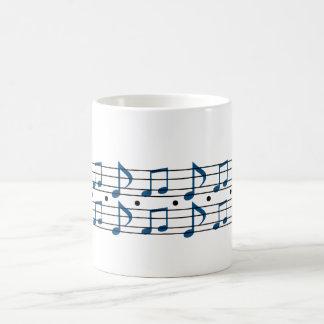 Notas de la música taza clásica