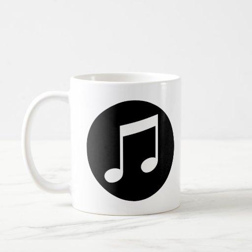 Notas de la música taza de café
