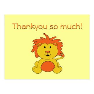 """Notas de la postal del """"pequeño león"""" gracias"""