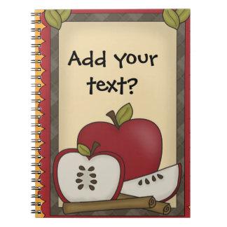 Notas de las manzanas o cuaderno espiral de las ci