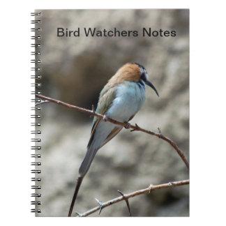 Notas de los vigilantes de pájaro del cuaderno