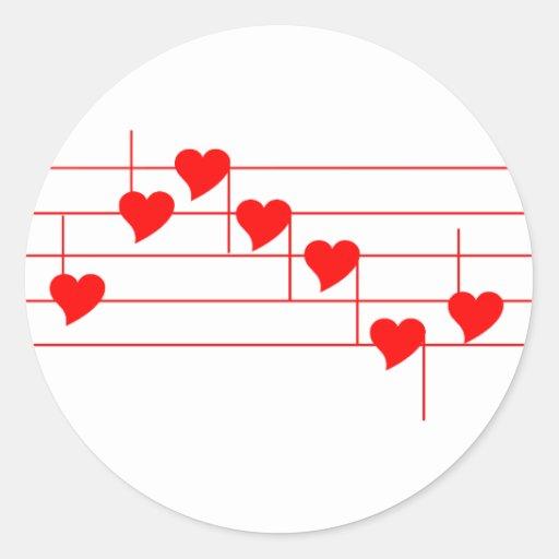 Notas de Love'n Pegatinas Redondas