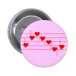 Notas de Love'n Pin Redondo 5 Cm