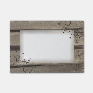 Notas de madera del Poste-it® del granero rústico Post-it Notas