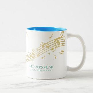 Notas de marcado en caliente de la música del oro taza de dos tonos