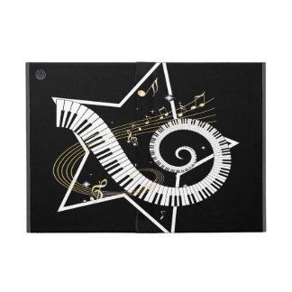 Notas de oro de la estrella musical iPad mini carcasas