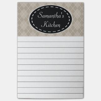 Notas de post-it beige personalizadas de la cocina post-it® nota