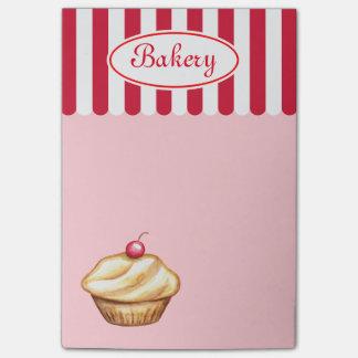 Notas de post-it de la magdalena de la panadería nota post-it®