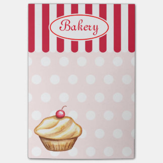 Notas de post-it de la magdalena de la panadería post-it® notas