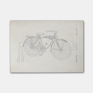 Notas de post-it de la patente de la bicicleta de nota post-it®