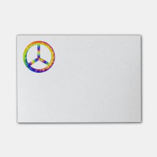 Notas de post-it del símbolo de paz del teñido post-it® nota