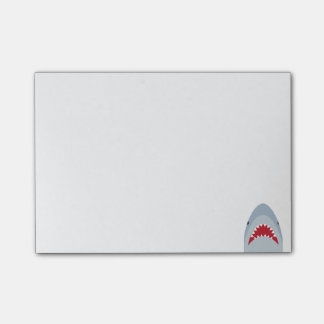 Notas de post-it del tiburón nota post-it