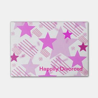 Notas de post-it feliz divorciadas post-it notas