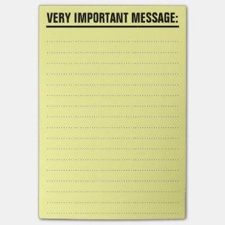 Notas de post-it grandes con el papel alineado notas post-it®