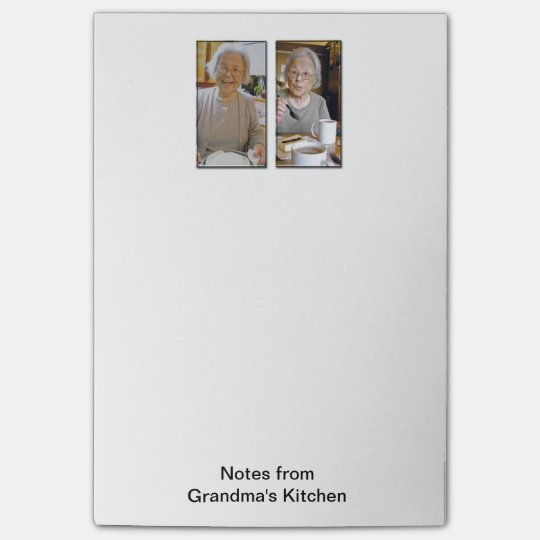 Notas de post-it grandes de la cocina de la abuela