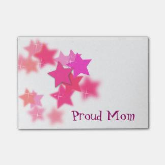 Notas de post-it orgullosas de la mamá notas post-it