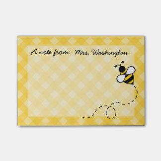 Notas de post-it personalizadas de la abeja de la post-it nota