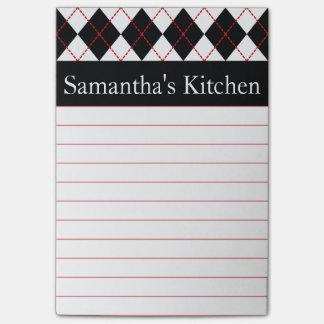 Notas de post-it rojas personalizadas de la cocina post-it® nota