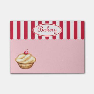Notas de post-it rosadas de la panadería post-it® notas